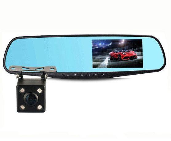 Зеркало видеорегистратор с двумя камерами DVR 138W, доставка, опт