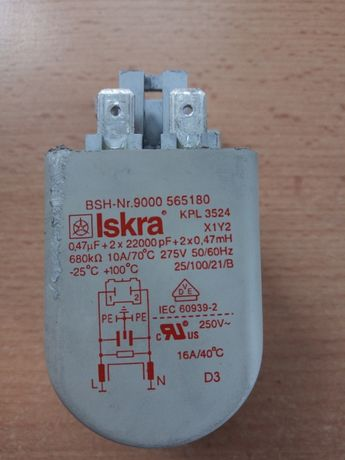 Filtr prądu Iskra BSH-nr.9000