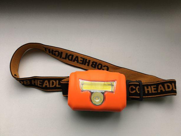 Налобный фонарик LED светодиодный Cob диод очень яркий head lamp