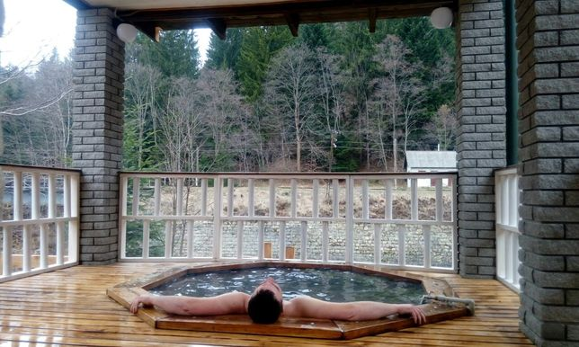 Чан, баня на дровах, басейн, котеджі.