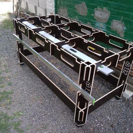 Стол 1800х900х870. Ячеистый стол верстак для раскроя.