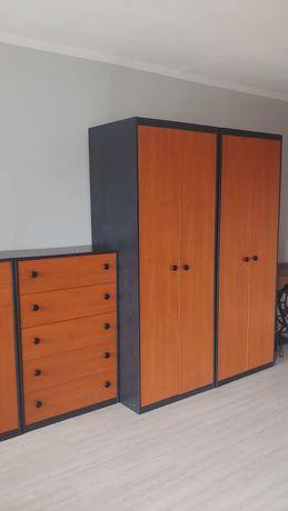 Szafy i szafki oraz biurko