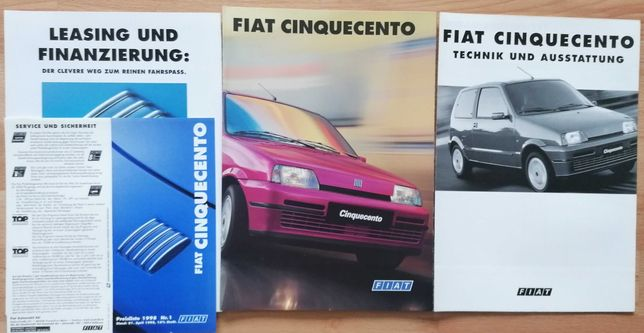 Prospekt Fiat Cinquecento S SX Suite Soleil Sporting + dane tech