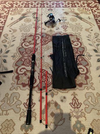 Cana de pesca Com carreto e multifilamento