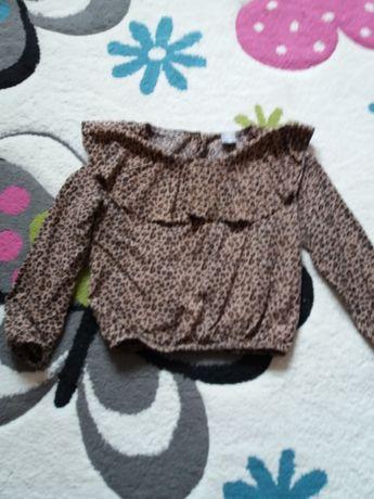 Bluzeczka panterka i bawełnianą