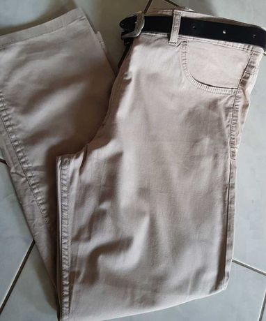 XL-spodnie dżinsowe bawełniane męskie damskie letnie beżowe