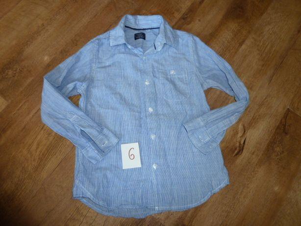 Фирменная школьная рубашка на 6 лет с длинным рукавом