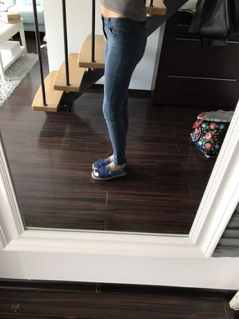Levis spodnie slim super skinny jeans rurki dżinsy