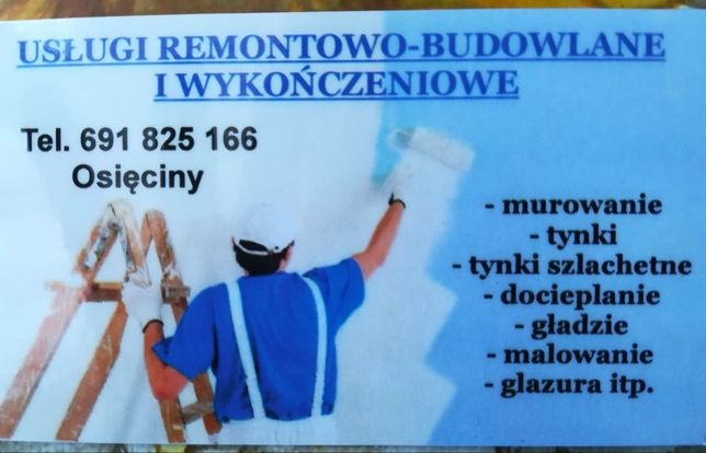 Usługi remontowo-budowlane i wykończeniowe