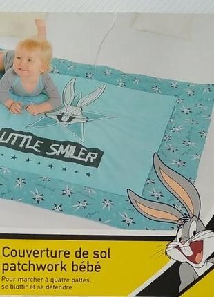 Детский коврик-одеяло для игр lupilu 115*115см