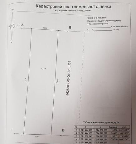 Продам земельну ділянку біля Львова