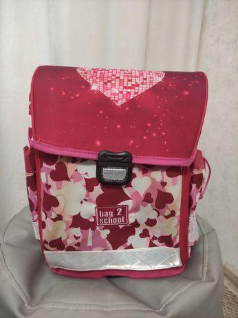 Рюкзак школьный каркасный для девочки ортопедический