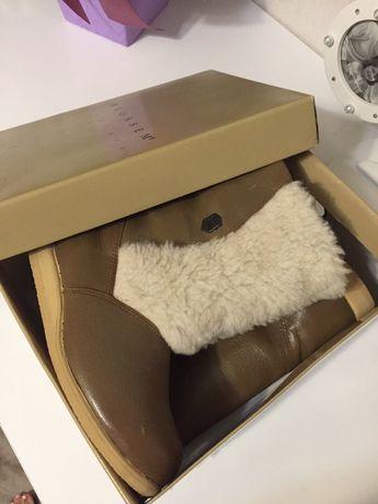 Продам зимние натур.кожаные сапоги-нат мех-новые