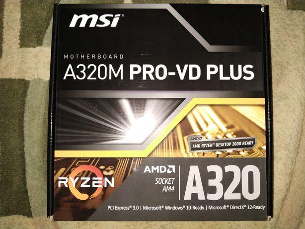 Материнская плата MSI A320M PRO-VD PLUS(sAM4, AMD A320, PCI-Ex16)