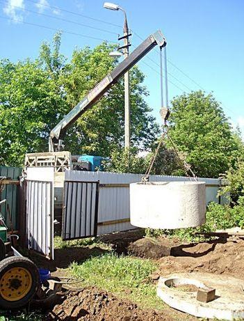 Выгребные сливные ямы.Траншеи.Бетонные земляные работы копка демонтаж.