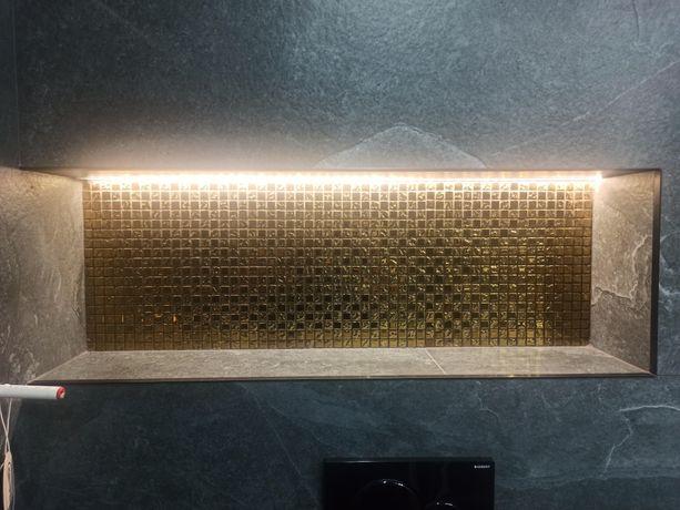 Mozaika ścienna zołta 30x30