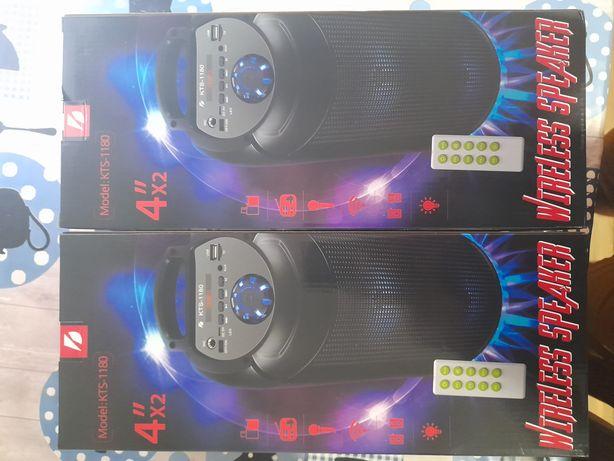 Coluna de som Karaoke Portátil super potente com Bluetooth e comando N