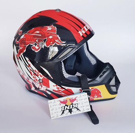 Kask Cross Shiro Mx 912 Kini Revolution Red Bull