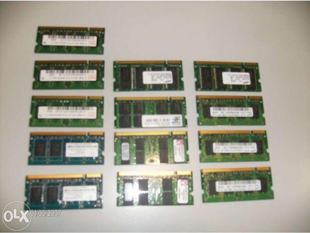 Memórias para portáteis e Desktop.