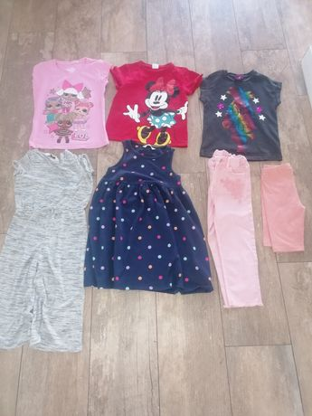 Koszulka Minnie, lol, trolle, h&m George 6 lat