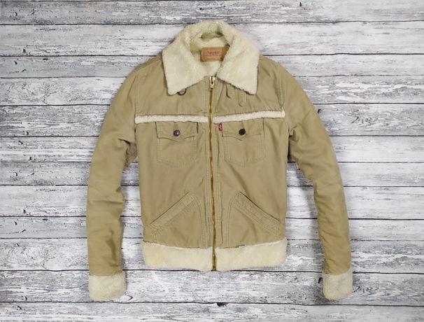 Levis шерпа Levi's куртка вельветовая джинсовка