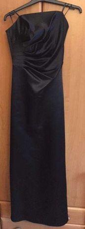 Czarna sukienka wieczorowa koktajlowa na studniówkę S/34/36