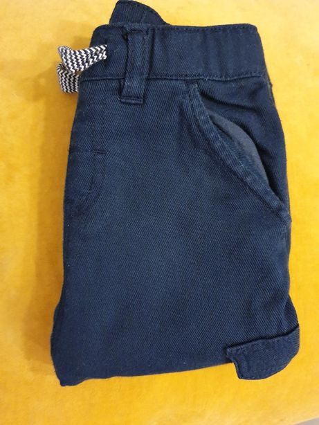 H&M Granatowe spodnie