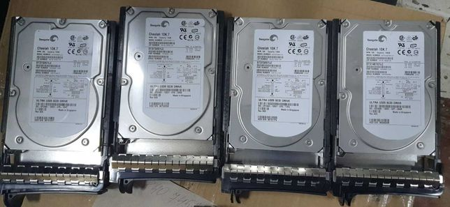 Продаются диски Seagate ST3146707LC 10K.7 Ultra320 SCSI 146.8GB - 4 шт