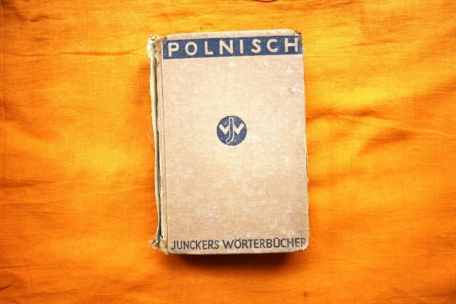 Антикварное издание: Словарь польско-немецкий 1943 г.