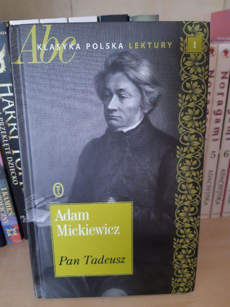 """Adam Mickiewicz ,,Pan Tadeusz"""", książka w twardej oprawie"""