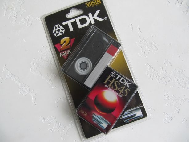 Видео кассета TDK HS45 (VHS C) ( 2 шт )