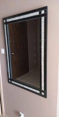 Lustro glamour z kryształkami 70x100