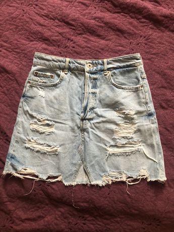 Jeansowa spódnica Bershka