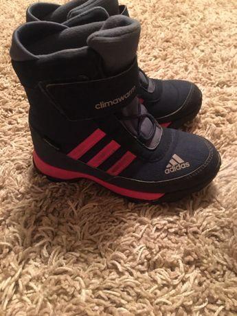 Зимние ботиночки adidas на девочку