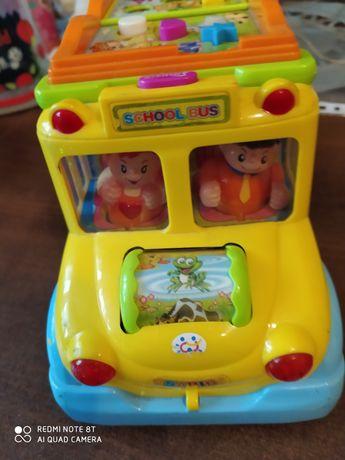 Wesoły autobus zabawka interaktywna