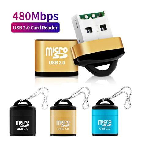 Leitor de  cartões de memória micro sd novo com portes incluídos