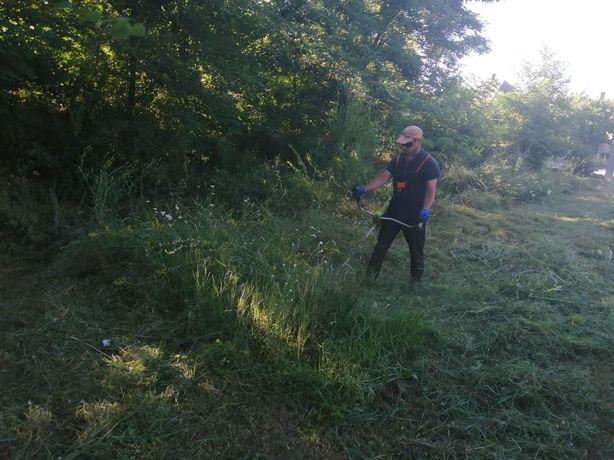 Уборка участка, покос трави, спил дерева.