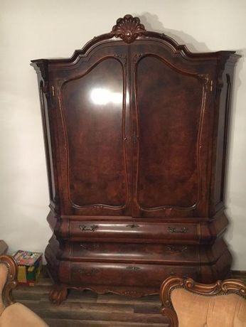 witryna , szafa barokowa na lwich łapach
