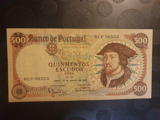 Nota de 500 Escudos,  D. João