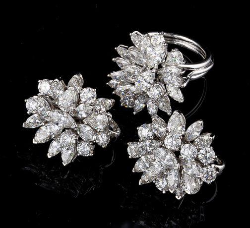 Серьги , Кольцо  бриллианты 11,5 Ct