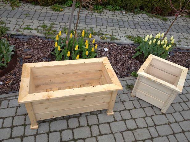 donica ogrodowa drewniana