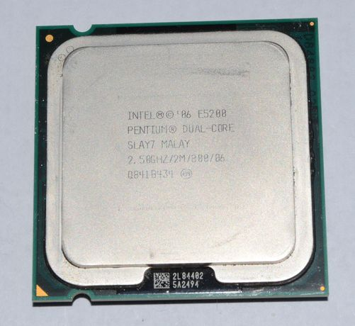 Процессор Intel Pentium Dual Core E5200 2,5GHZ/2M/800 б/у Socket 775