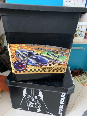 Огромный Ящик для игрушек Hot whils + подарок робот или динозавр