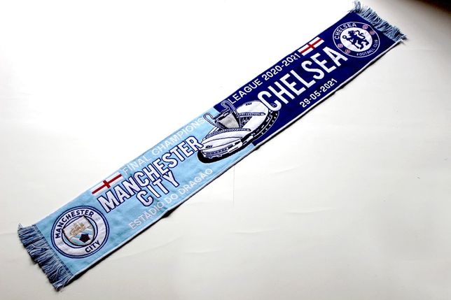 Cachecol final champions manchester vs chelsea ucl