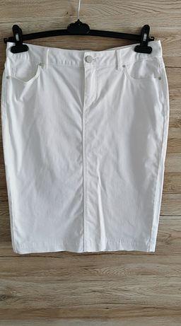 Biała ołówkowa spódnica letnia na lato rozmiar 38 M