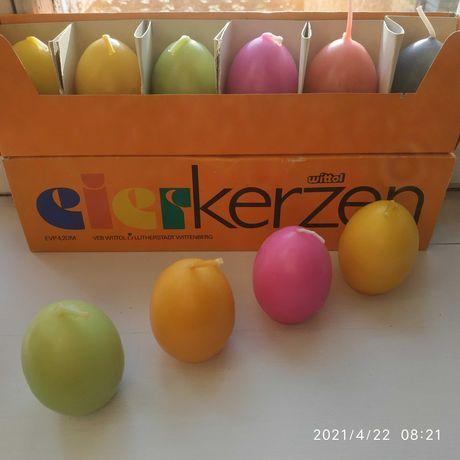 Свечи в форме яйца Германия