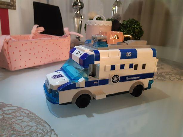 Jak nowy gra świeci jeździ lego samochód policja Mikołajki prezent