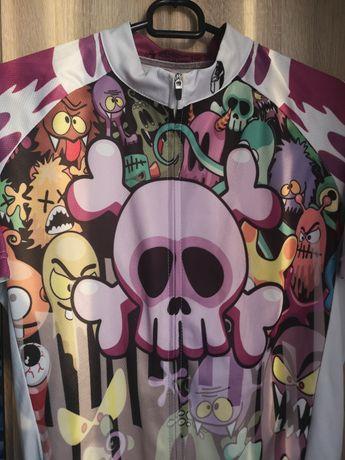 Bluzka koszulka na rower rowerowa z kieszonka