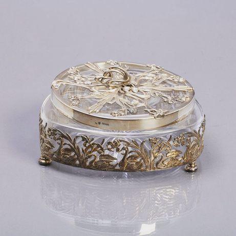 Caixa em prata Topázio e cristal Atlantis - Arte Nova