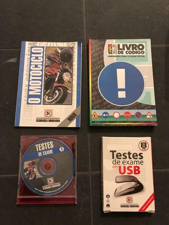 Cd e USB de testes, código de automóvel e motociclo